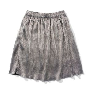 Bluenotes metallic silver pleated skirt size large